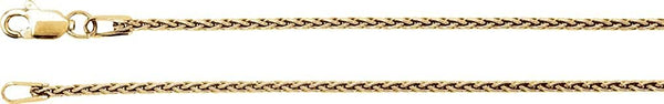 1.25mm 14k Yellow Gold Wheat Chain, 24""