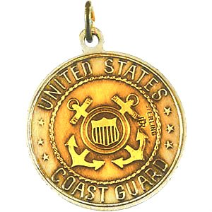 US Coast Guard 14k Yellow Gold St Michael Protect Us Medal