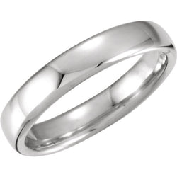 4.5mm 14k White Gold Euro-Style Light Comfort-Fit Band Sizes 4 to 14