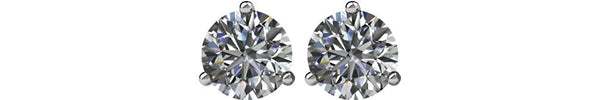 Diamond Stud Earrings, Rhodium Plated 14k White Gold (.25 Cttw, Color GH, Clarity I1)