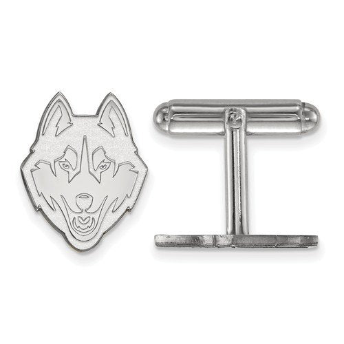 Sterling Silver University Of Connecticut Cuff Links, 16MM