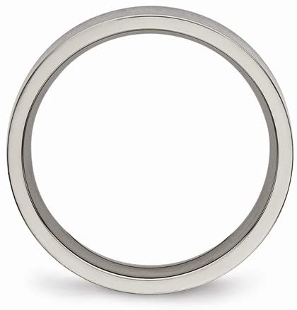 Titanium 4mm Comfort-Fit Flat Band, Size 9.5