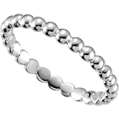 Palladium Granulated Bead 2.5mm Stackable Band