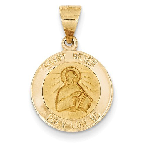 14k Yellow Gold St. Peter Medal Pendant (18X16MM)