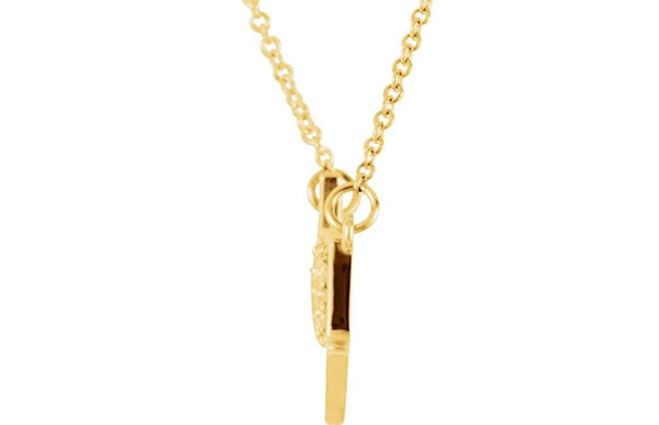 "16-Stone Diamond 'Love You' 14k Yellow Gold Pendant Necklace, 18"" (.08 Cttw)"