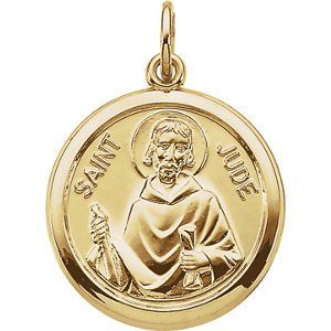 14k Yellow Gold St. Jude Medal (15.5 MM)