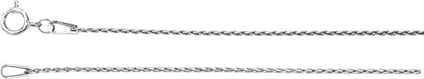 .85mm Sterling Silver Baby Wheat Chain, 16""