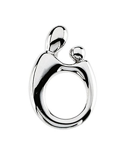 Sterling Silver Small Mother and Child Pendant