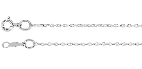 1mm Sterling Silver Cable Chain Necklace 16 Inches