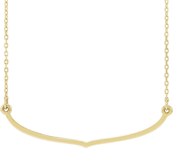 Freeform Bar Necklace, 14k Yellow Gold, 18""