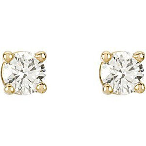 Diamond Stud Earrings, Rhodium-Plated 14k Yellow Gold (.33 Cttw, Color GH, Clarity SI1)