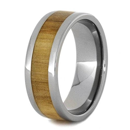 Rowan Wood 8mm Titanium Comfort-Fit Wedding Ring