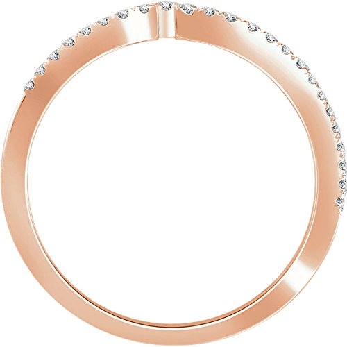 Diamond Negative Space Ring, 14k Rose Gold, (1/2 Ctw, Color H+, Clarity I1), Size 7