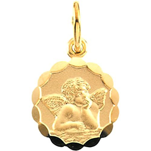 14k Yellow Gold Angel Pendant (8 MM)