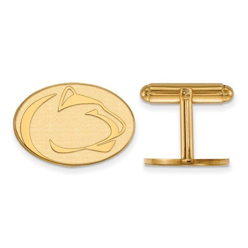 14k Yellow Gold Penn State University Oval Cuff Links, 17X22MM