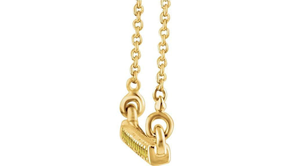 "16-Stone Yellow Diamond Bar 14k Yellow Gold Pendant Necklace, 18"" (.16 Ctw, Yellow, I2 Clarity)"