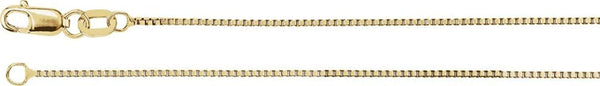 .75mm 14k Yellow Gold Box Chain Bracelet, 7""