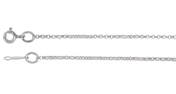 1.5mm Rhodium-Plated Sterling Silver Rolo Chain, 30""