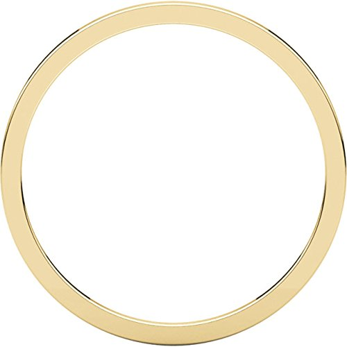 10k Yellow Gold 1mm Slim-Profile Flat Band
