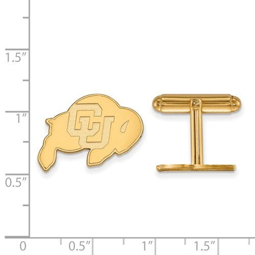 Gold-Plated Sterling Silver University Of Colorado Cuff Links, 15X18MM