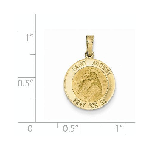 14k Yellow Gold Saint Anthony Medal Charm (24X15 MM)