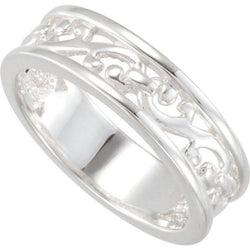 Filigree Stackable Band, Size 6 to 7