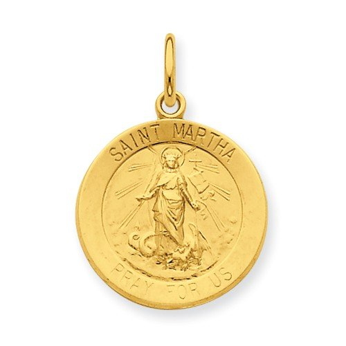 Sterling Silver and 24k Gold -plated St. Martha Medal