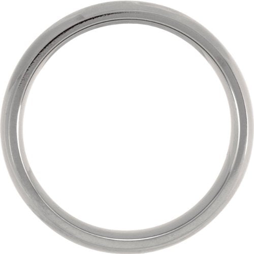 Titanium 8mm Comfort Fit Dome Band, Size 6.5