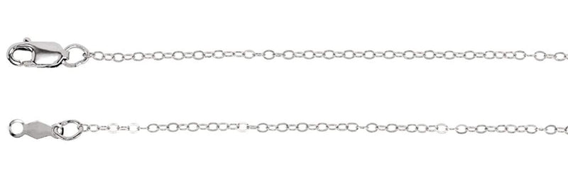 1.2mm Sterling Silver Cable Chain, 16""
