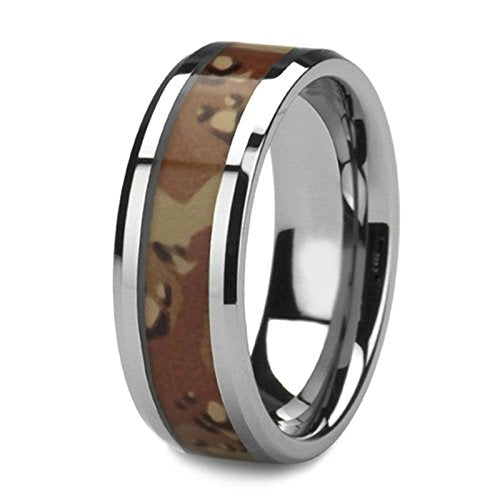 Desert Camo 8mm Comfort-Fit Tungsten Band