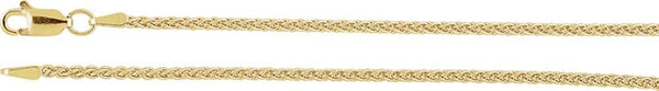 1.8mm 14k Yellow Gold Wheat Chain Bracelet, 7""