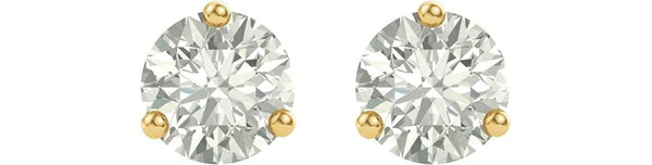 Charles & Colvard Forever One Moissanite Earrings, 14k Yellow Gold 5MM