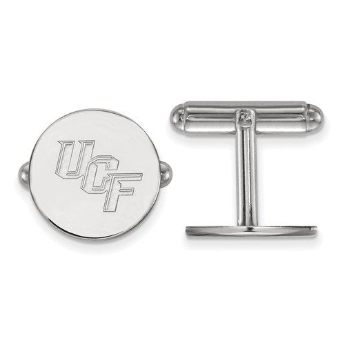 Rhodium-Plated Sterling Silver University Of Central Florida Cuff Links, 15MM