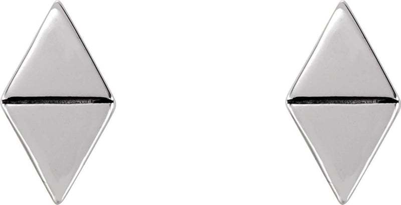 Geometric Triangle Stud Earrings, Sterling Silver