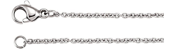 1.5 mm Stainless Steel Anchor Link Chain, 20""