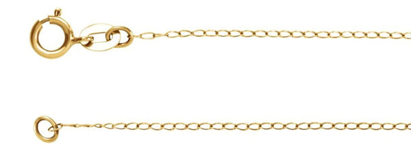 "14k Yellow Gold Solid Curb Chain, 24"" (1.00MM)"