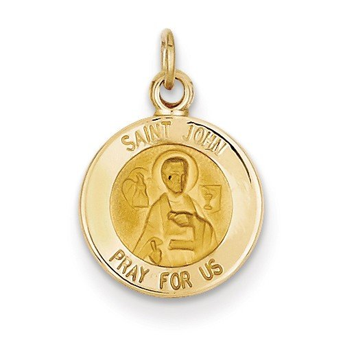 14k Yellow Gold St. John Medal Charm (19X13MM)