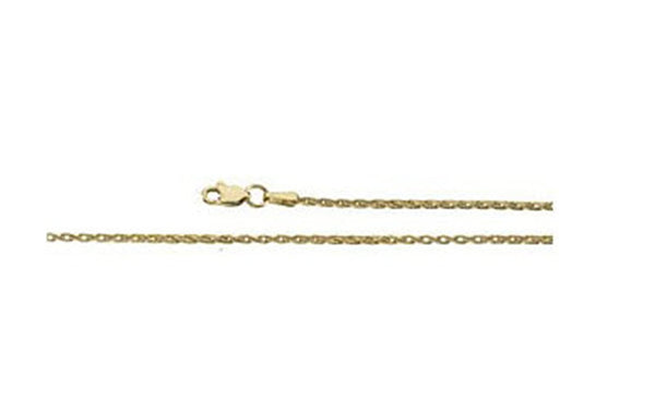 1.5mm 14k Yellow Gold Wheat Chain Bracelet, 7""