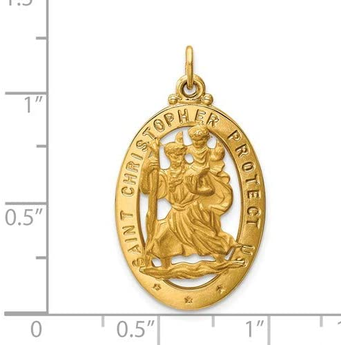 14k Yellow Gold St. Theresa Medal Pendant (18x15MM)