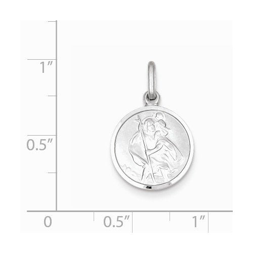 Sterling Silver St. Christopher Medal (22X15MM)