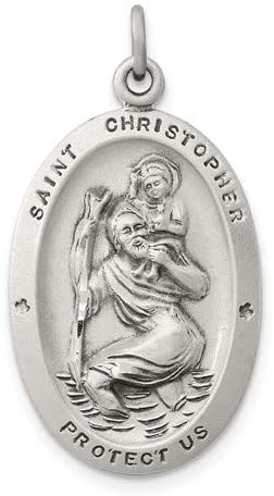 Sterling Silver St. Christopher Medal (30X15MM)