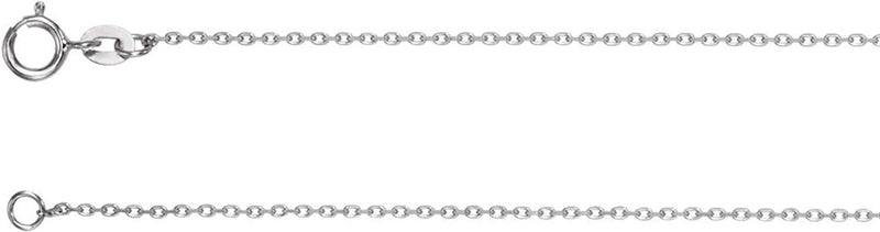 1 mm Rhodium-Plated 14k White Gold Diamond Cut Cable Bracelet, 7""