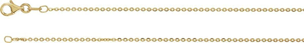 Sterling Silver with 18k Yellow Gold Plated 1.4mm Diamond Cut Cable Chain, 18""