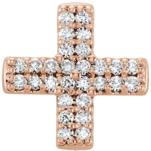Diamond Greek Cross 14k Rose Gold Pendant (.07 Ctw, G-H Color, I1 Clarity)