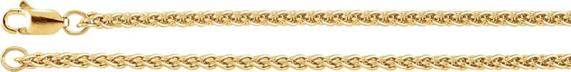 2.4mm 14k Yellow Gold Wheat Chain, 16""