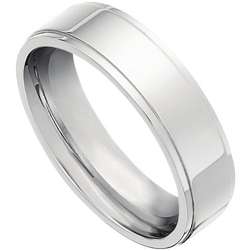 Titanium Flat 7mm Comfort Fit Band