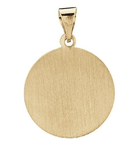 14k Yellow Gold Round Hollow St. Francis of Assisi Medal (15 MM)