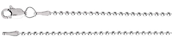 1.5mm Sterling Silver Bead Chain, 16""