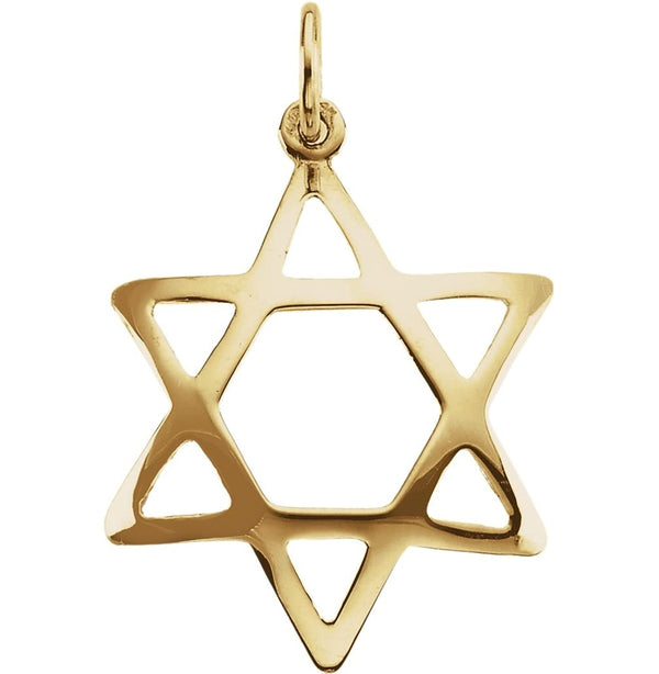 Star of David 14k Yellow Gold Pendant (Made in the Holy Land)