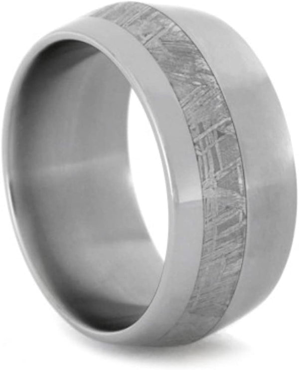 Knife Edge Gibeon Meteorite 10mm Comfort-Fit Matte Titanium Band, Size 12.5